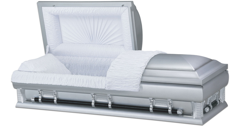 "<h4 class=""prodhead"">Louisburg - Metal Casket</h4><body class=""prodbody"">Light Silver Crepe Interior. Platinum Shaded Ebony Finish. 18 Gauge Steel. 27.5 Inches Wide, 82.5 Inches Long. Will Fit In Standard Vault. </body>"